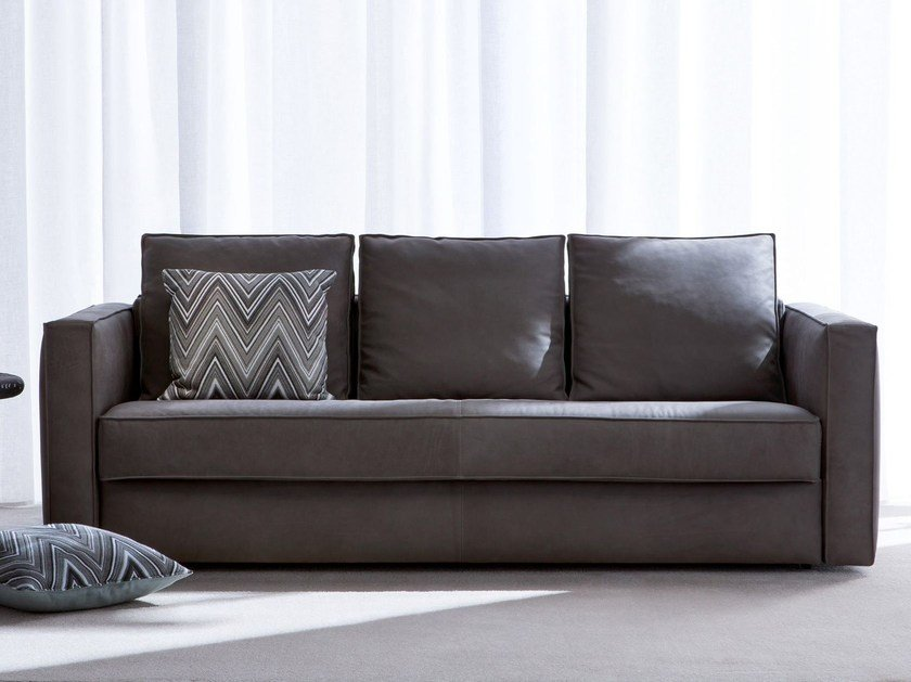 3 seater leather sofa bed ROBINSON | Leather sofa bed by BertO