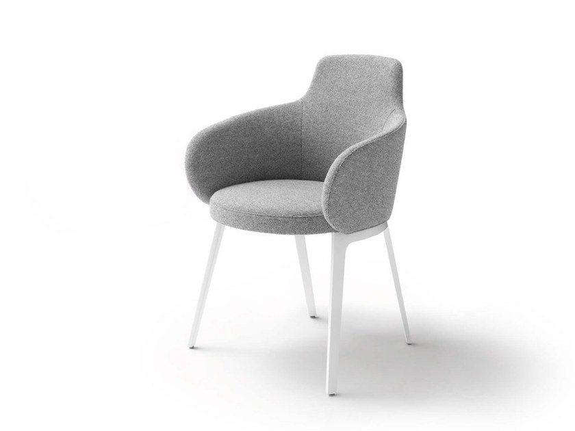 Merveilleux Upholstered Fabric Chair With Armrests ROC | Chair By COR