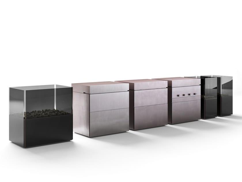 Modular steel outdoor kitchen ROCK.AIR by Steininger