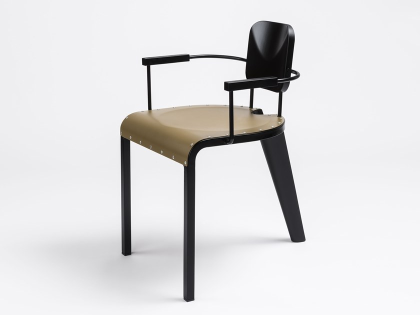 Aluminium chair with armrests ROCK | Chair with armrests by da a