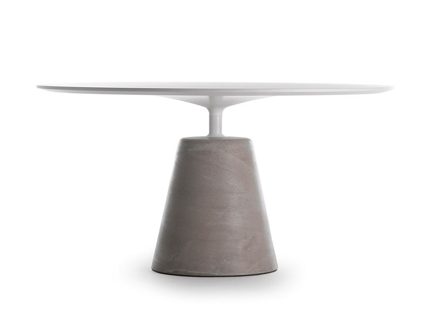 Tavolo rotondo in cemento ROCK TABLE | Tavolo in cemento by MDF Italia