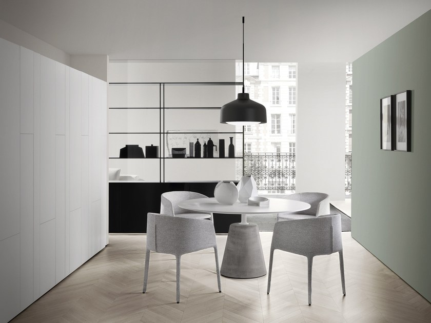 Lackierter runder tisch rock table by mdf italia design for Runder tisch design