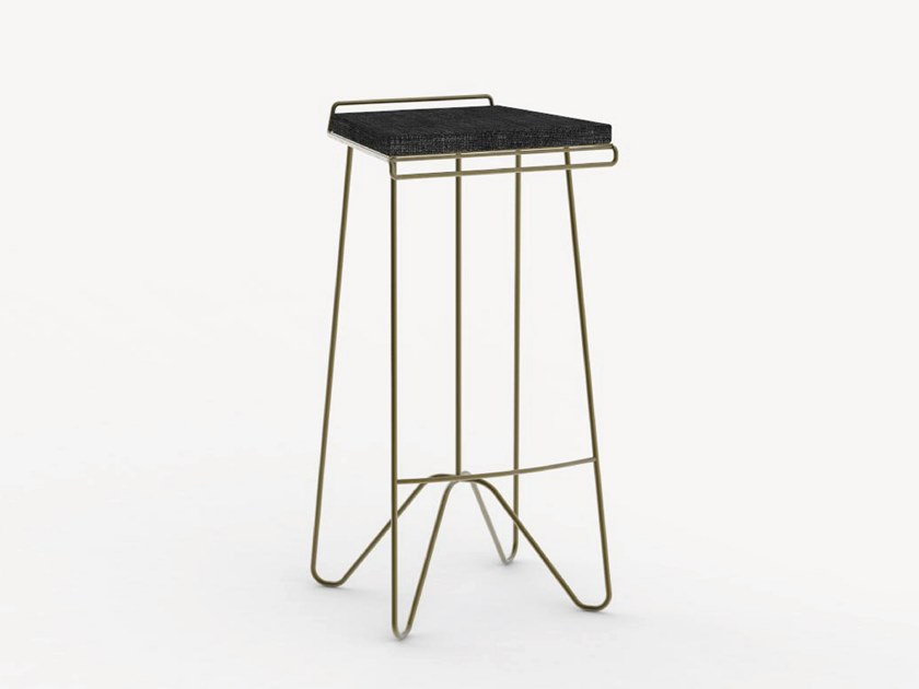 High garden stool with footrest ROCKEFELLER by Ciela Mare