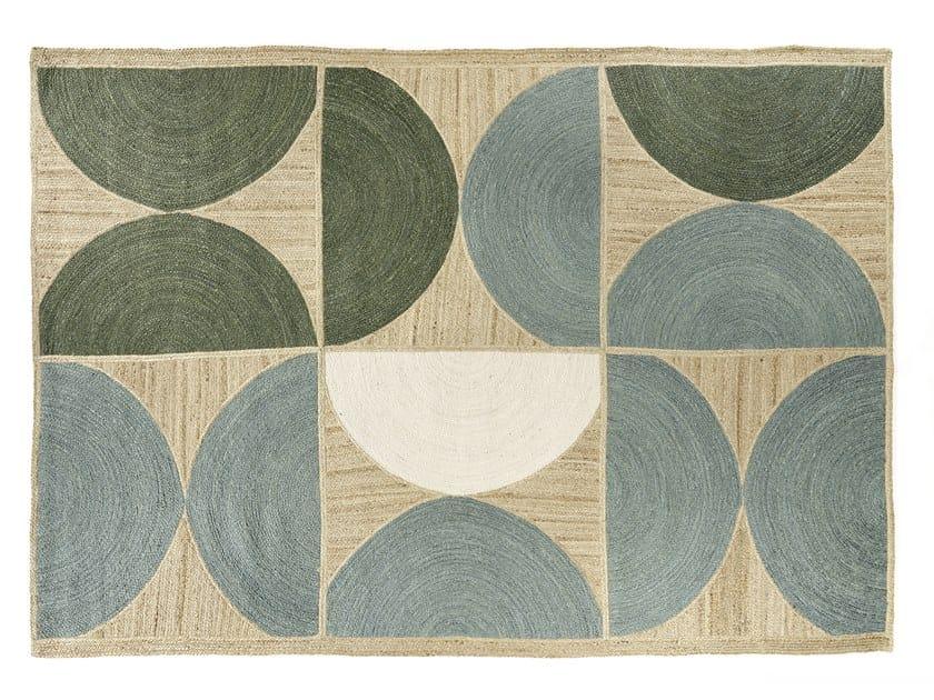 jute rug with geometric shapes ROCKY