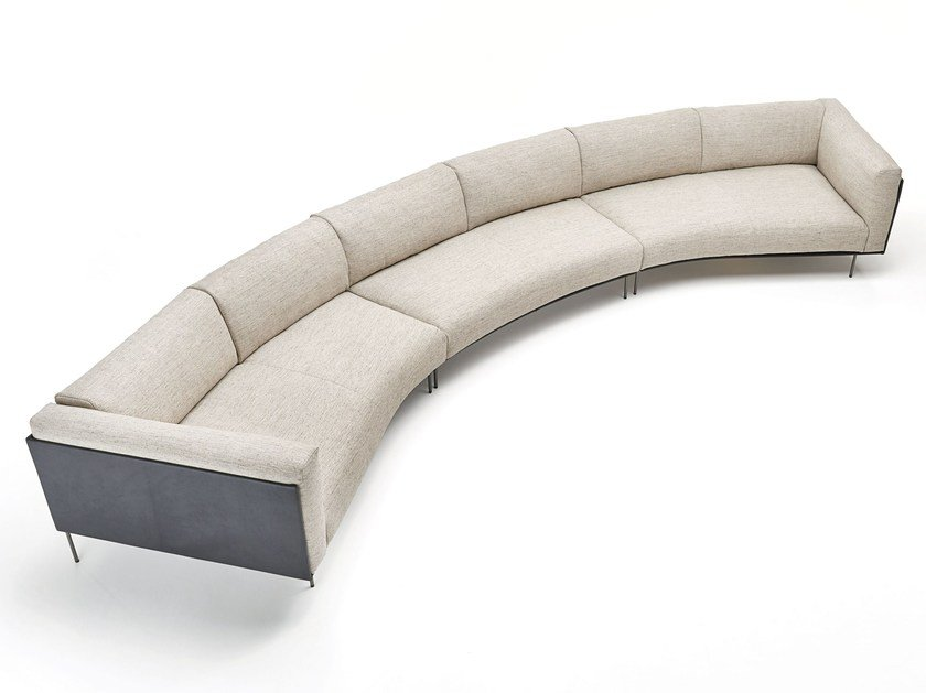 Curved fabric sofa with removable cover rod bean by living for Divani curvi design