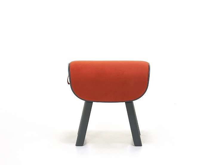 Upholstered fabric stool RODEO 09MS by Very Wood