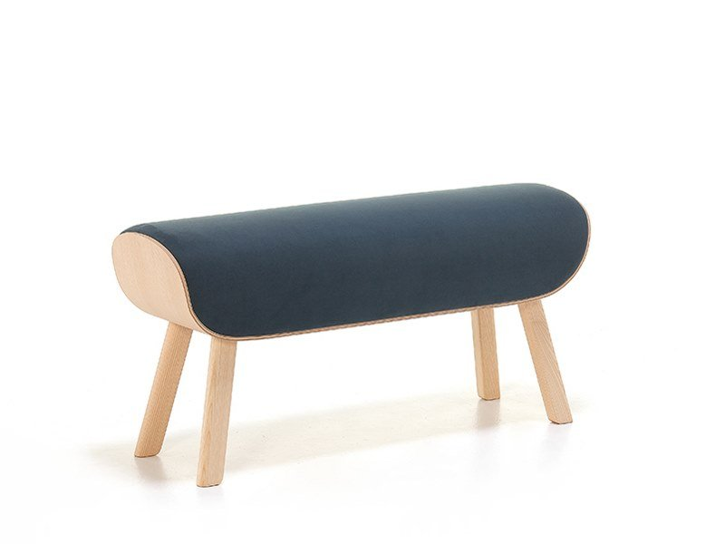 Upholstered fabric bench RODEO 10 by Very Wood