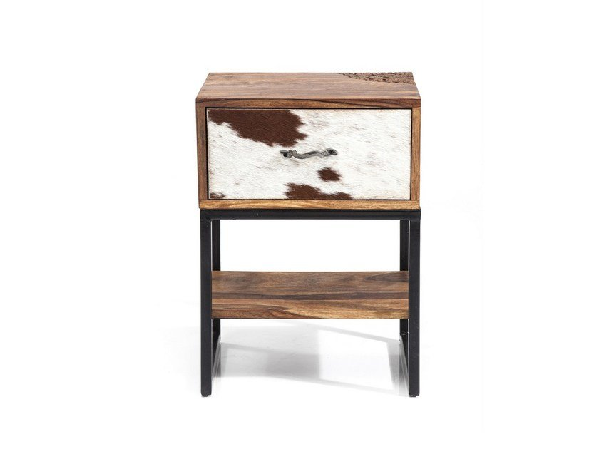 Wooden bedside table with drawers RODEO | Bedside table by KARE-DESIGN