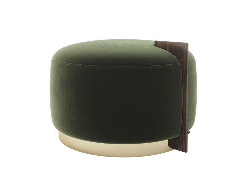 Upholstered fabric pouf ROGER by Laskasas
