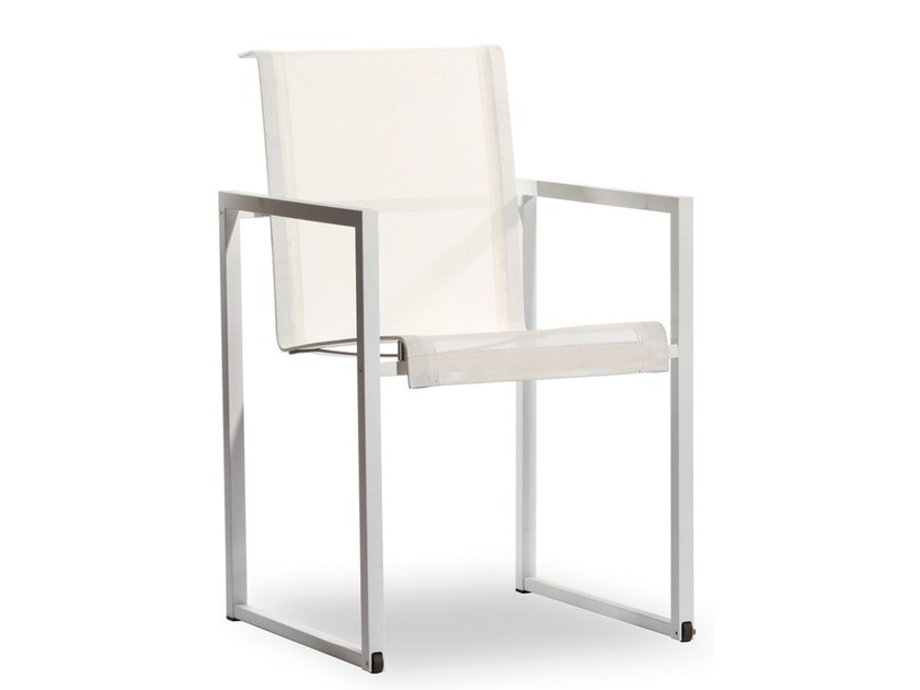 Garden chair with armrests with casters ROLBLOC | Chair by Joli