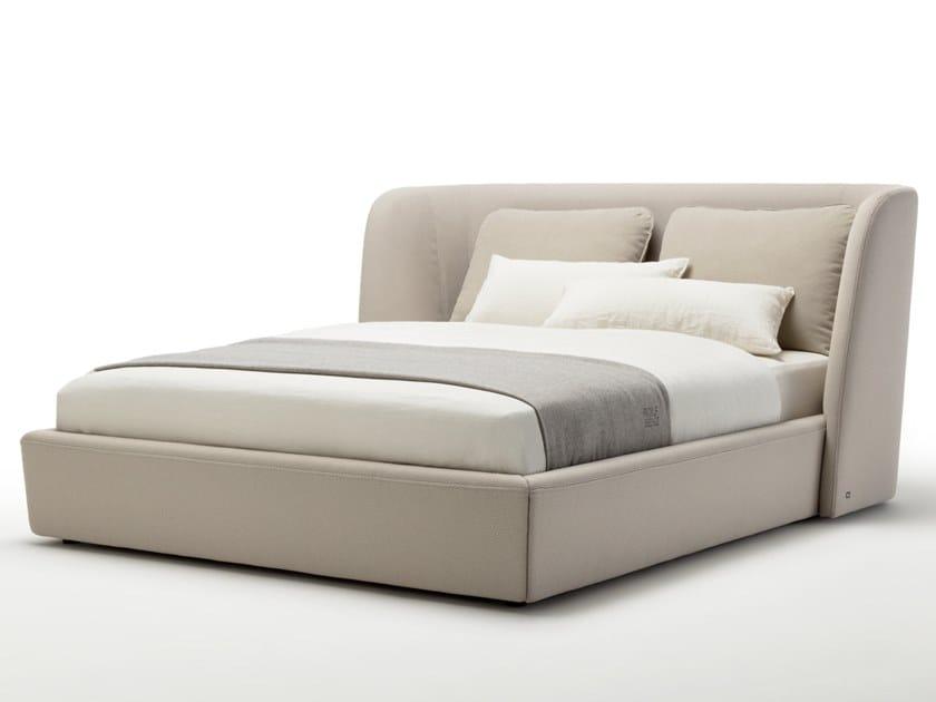 Doppelbett Bett aus Stoff ROLF BENZ 1400 TONDO By Rolf Benz