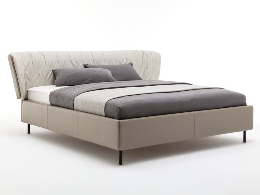 Cama doble de cuero ROLF BENZ 1600 SONO by Rolf Benz