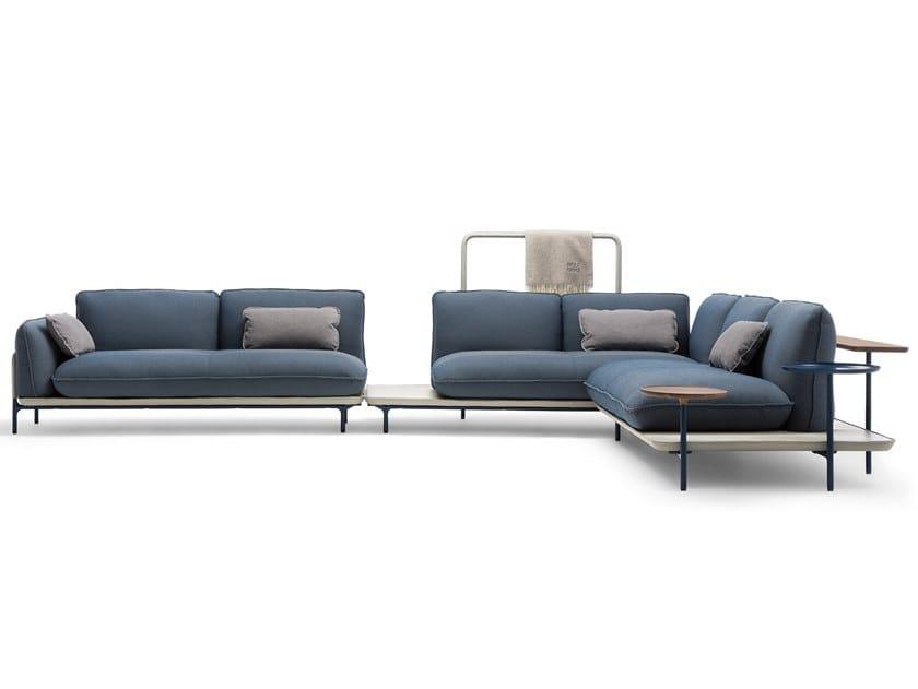 Corner sectional fabric sofa ROLF BENZ 515 ADDIT | Corner sofa by Rolf Benz