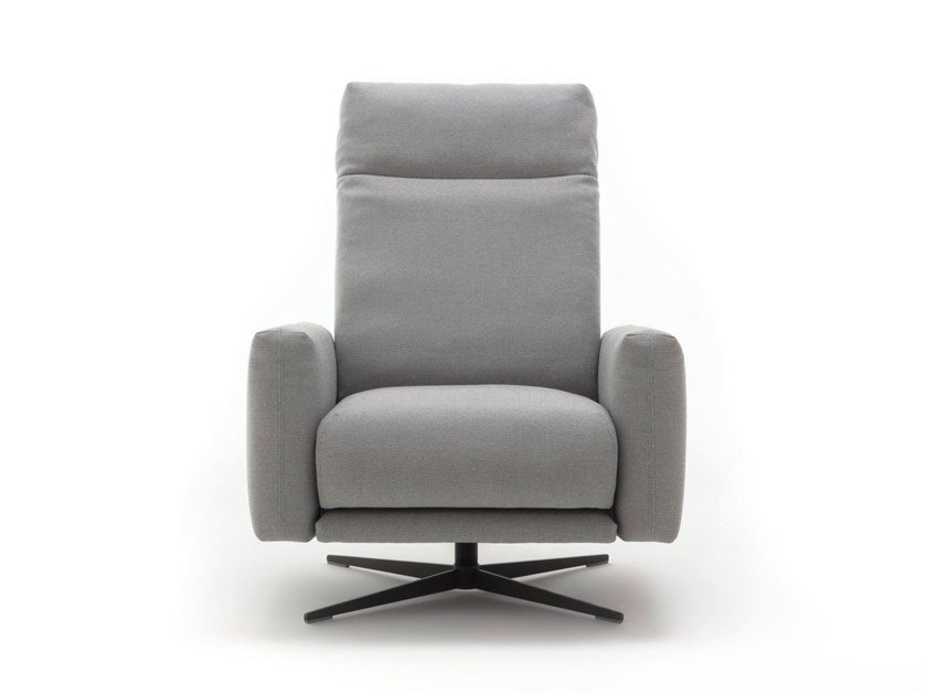 Fabric armchair with footstool ROLF BENZ 573   Fabric armchair by Rolf Benz
