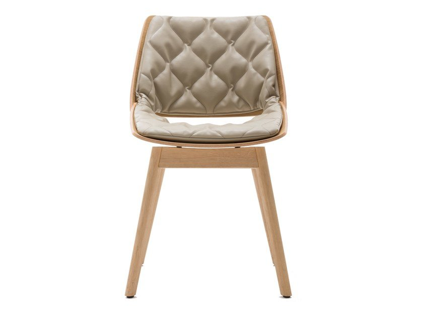 Chair with integrated cushion ROLF BENZ 650 | Wooden chair by Rolf Benz