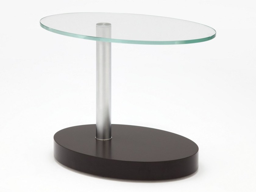 Tavolino di servizio ovale in vetro ROLF BENZ 8200 by Rolf Benz