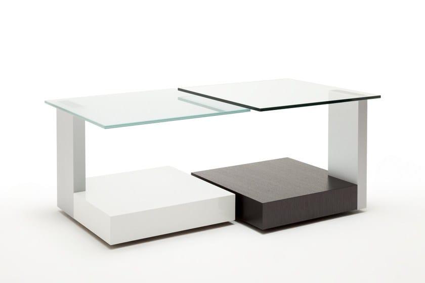 Beistelltisch Aus Holz Und Glas Rolf Benz 8590 By Rolf Benz Design