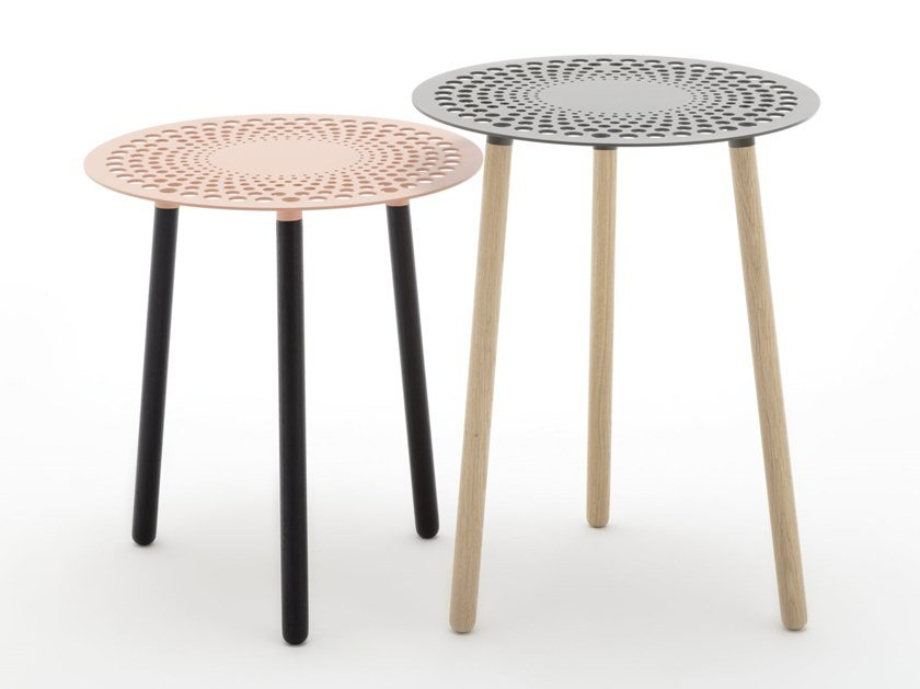 Round high side table ROLF BENZ 927 by Rolf Benz