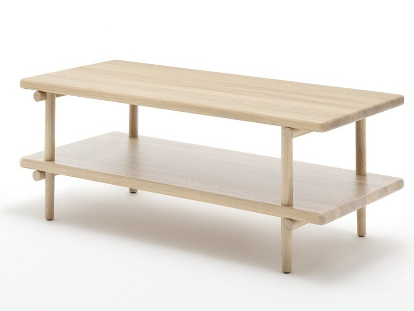 Rectangular wooden coffee table ROLF BENZ 933 by Rolf Benz