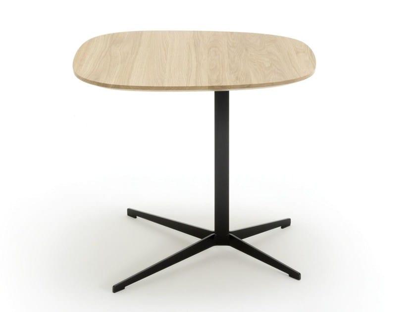 Tavolino di servizio in acciaio e legno ROLF BENZ 958 by Rolf Benz