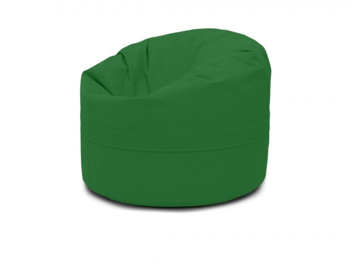 Upholstered round fabric bean bag pouf with removable lining ROLL 85/100 OX by Pusku pusku