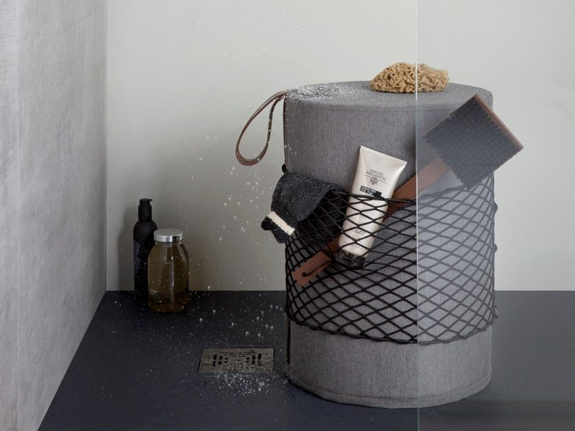 Technical fabric bathroom stool ROLL by EVER Life Design
