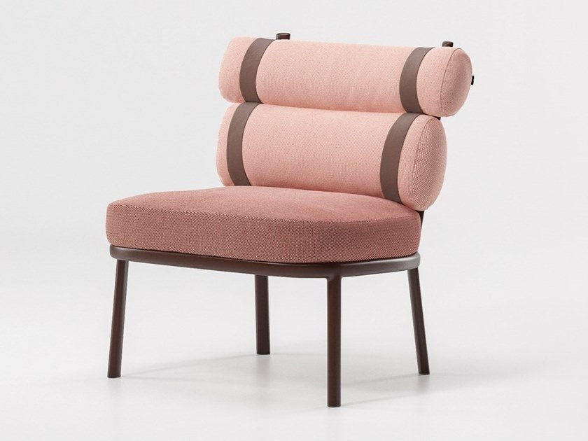 Club fabric garden armchair ROLL | Garden armchair by KETTAL