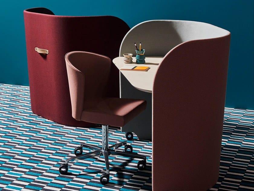 Individual office workstation ROLLING DESK by La Manufacture du Design