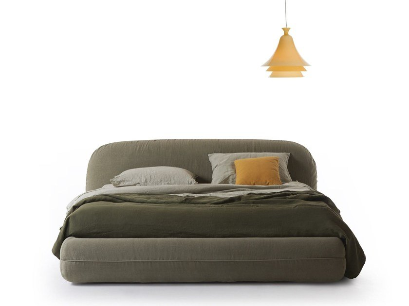 Upholstered double bed ROLLING by MY home collection