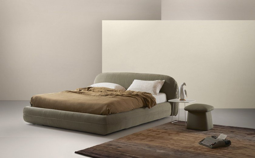 Letto imbottito matrimoniale ROLLING - MY home collection