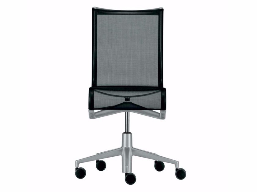 Height-adjustable swivel task chair with castors ROLLINGFRAME - 432 by Alias