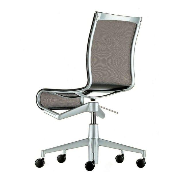 Sedia ufficio ad altezza regolabile girevole con ruote ...