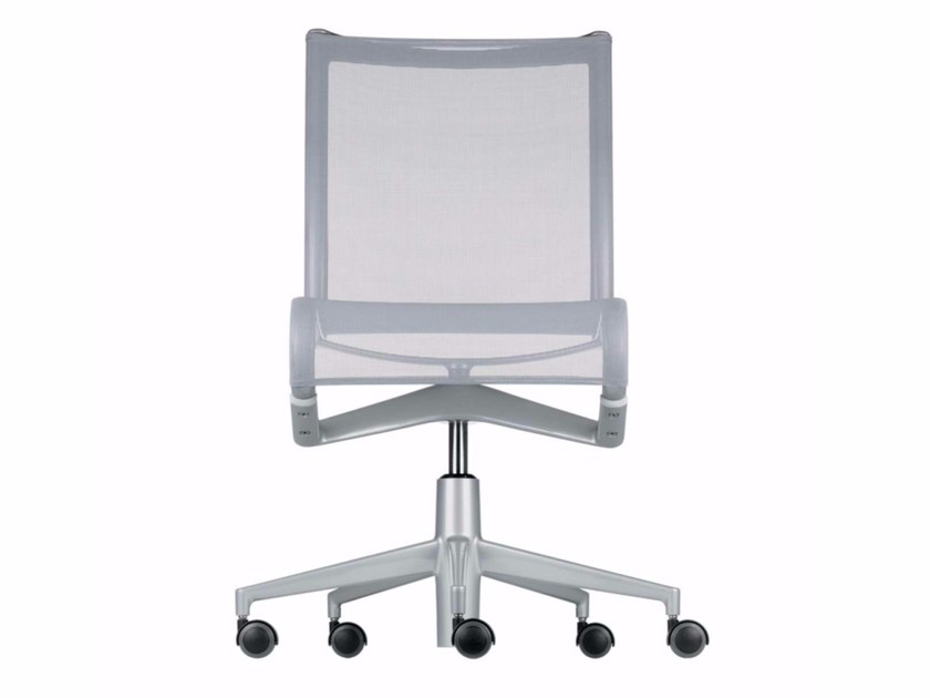 Height-adjustable swivel task chair with casters ROLLINGFRAME+ - 456 by Alias