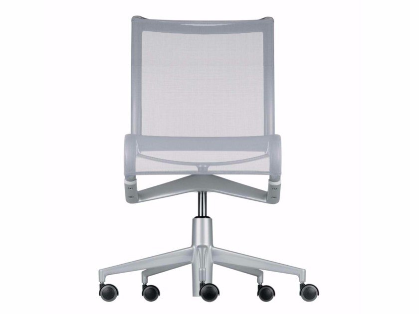 Height-adjustable swivel task chair with casters ROLLINGFRAME+ LOW - 448 by Alias