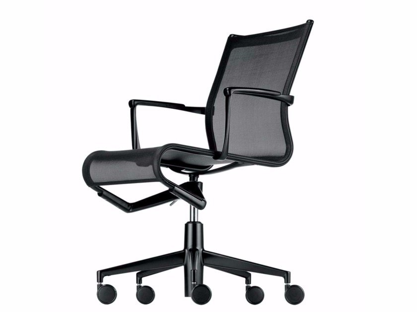 Height-adjustable swivel task chair with armrests MEETINGFRAME 52 ...