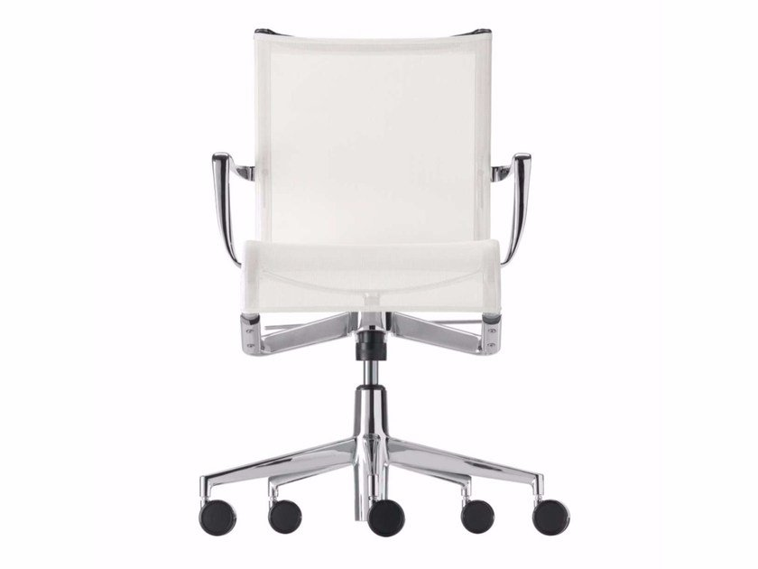 Height-adjustable swivel office chair with armrests ROLLINGFRAME+ TILT - 445 by Alias