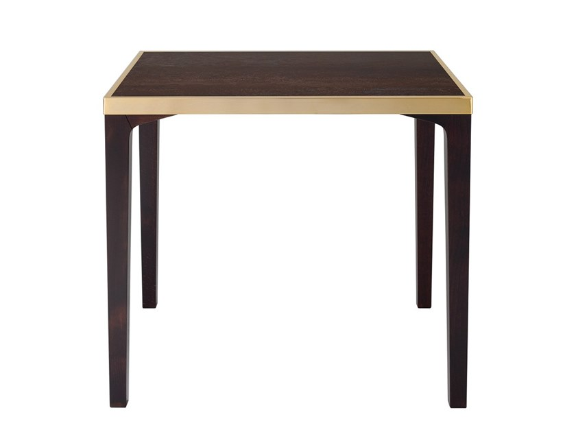 Tavolo in legno e top in marmo ceramico ROLLROICE by Vela Arredamenti