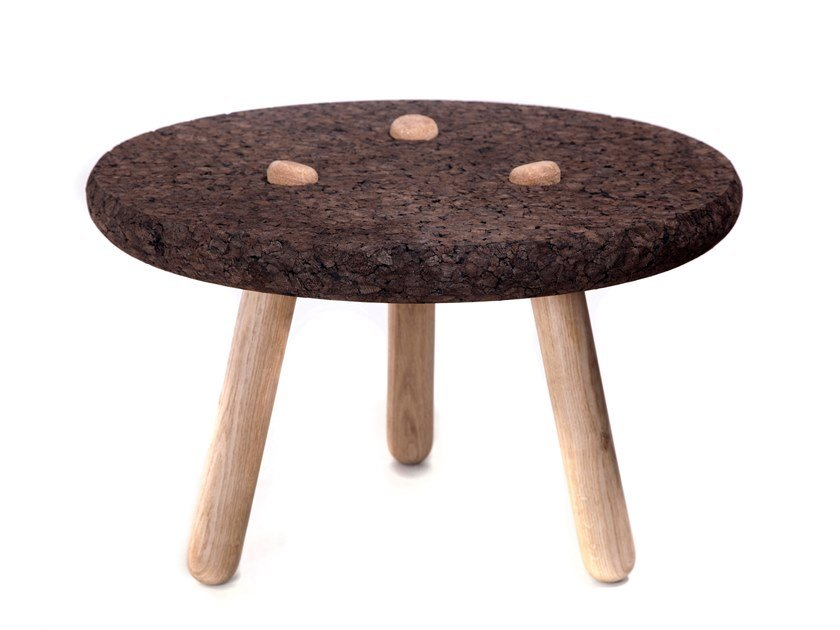 Tables basses ronde en liège ROLHA by BlackCork