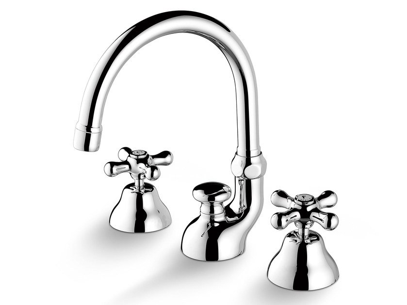 3 hole countertop washbasin tap ROMA 3225 by RUBINETTERIE STELLA