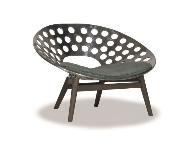 Metal easy chair ROMA by BAXTER