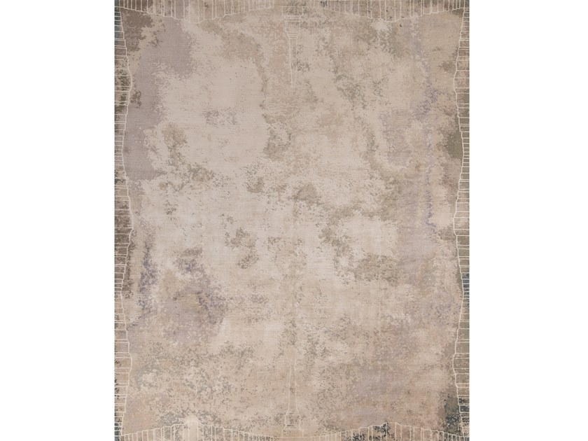 Handmade rectangular rug ROMA CAMOUFLAGE by Tapis Rouge
