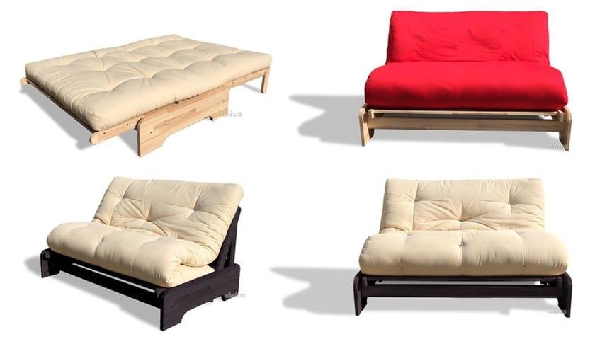 Divano letto in legno massello ROMA - Cinius