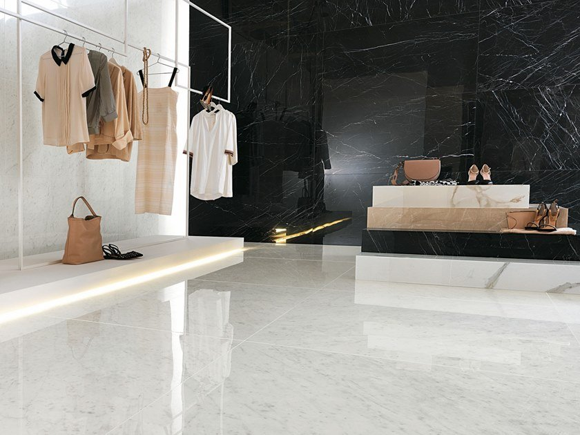 Porcelain stoneware flooring with marble effect ROMA DIAMOND | Flooring by FAP ceramiche