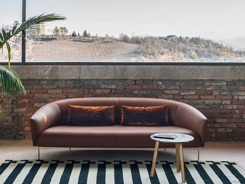 Leather sofa ROMA | Leather sofa by Tacchini
