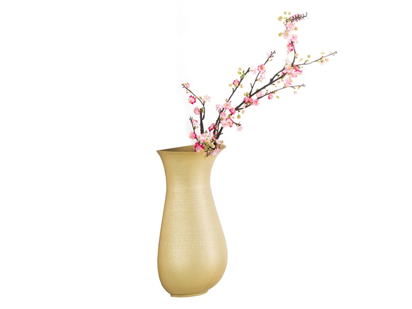 Wall-mounted brass vase ROMA by ZANETTO