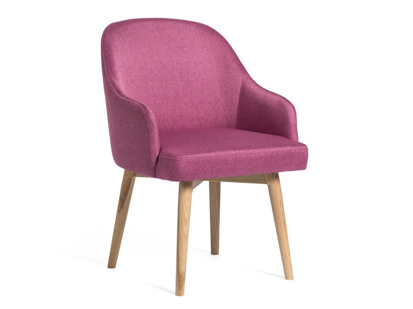Fabric chair with armrests ROMAN by meeloa