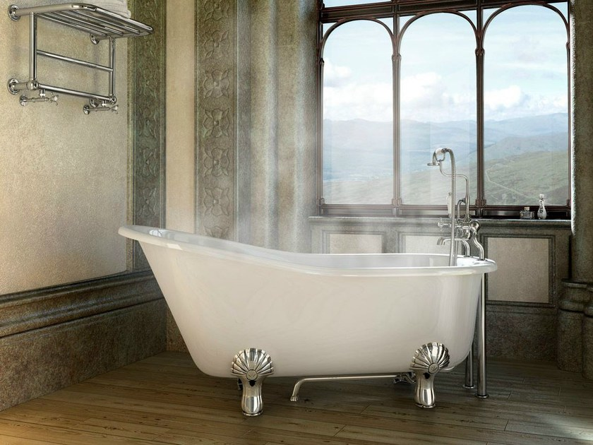Freestanding oval bathtub on legs ROMANO by Polo