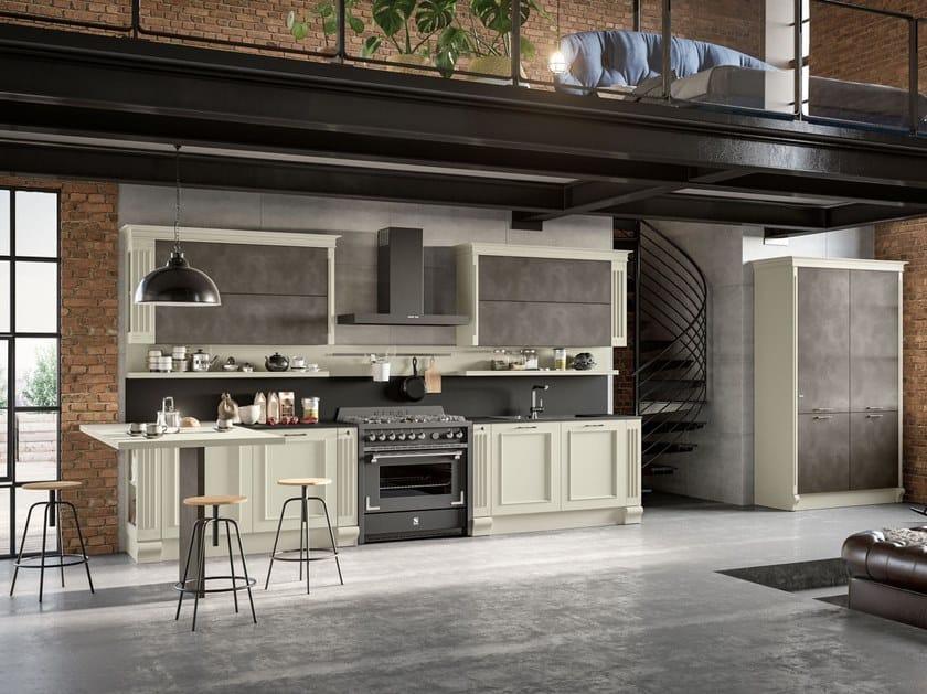Cucina laccata con penisola romantica 01 by febal casa
