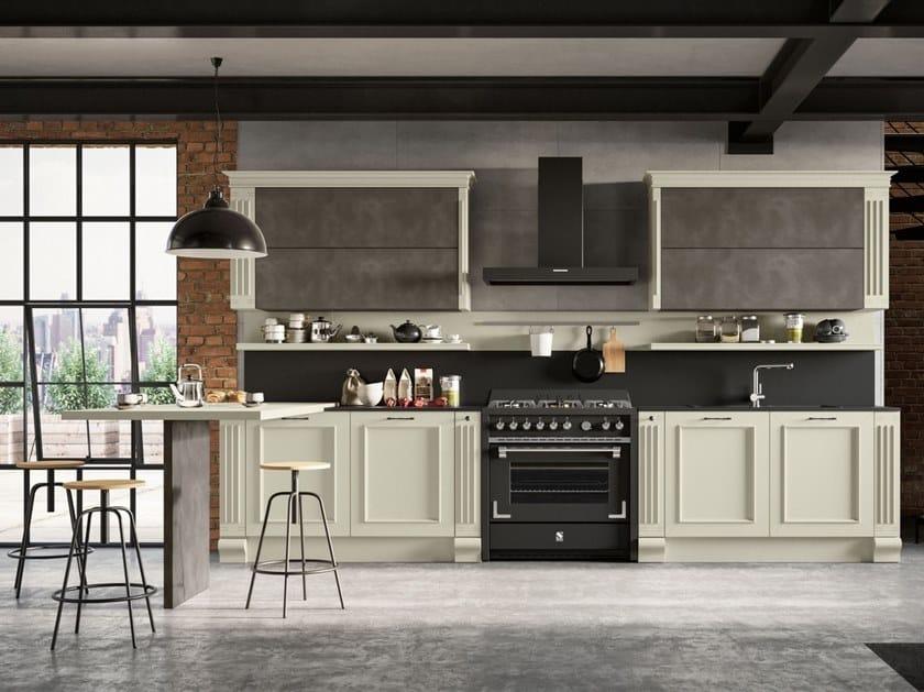 Cucina laccata con penisola romantica febal casa