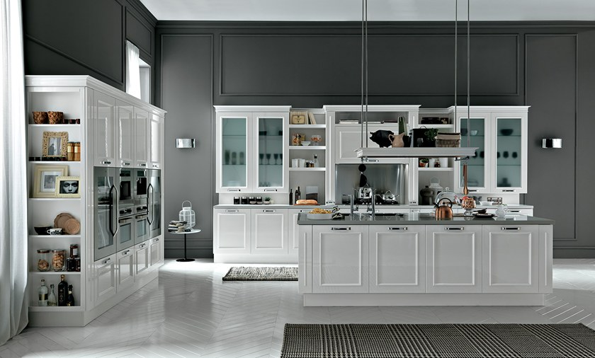 ROMANTICA | Kitchen with island By Febal Casa design Alfredo Zengiaro